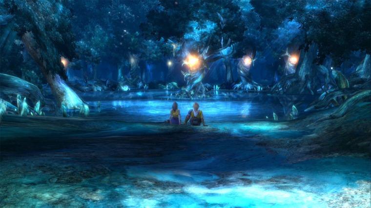 Yuna_&_Tidus_Macalania_Pond