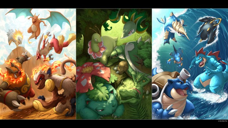 Pokemon Artwork. Drake Tsui
