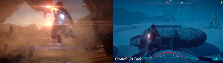 ME Andromeda. Jetpack