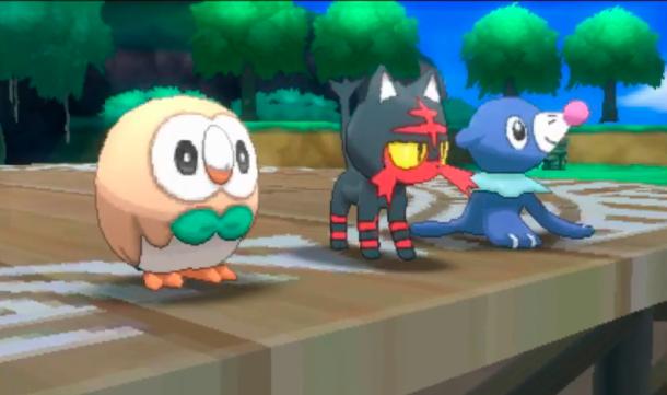 Pokémon Sol y Luna - iniciales