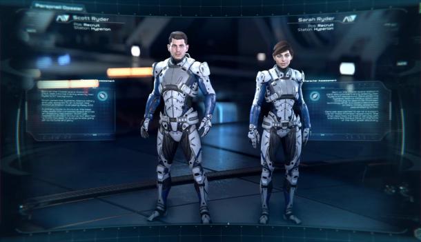 Mass Effect Scott y Sara Ryder